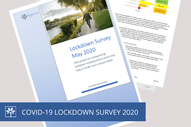 Healthy Work Company Lockdown Survey 2020