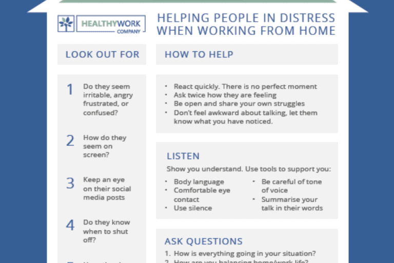 The Healthy Work Company - Helping someone in Distress